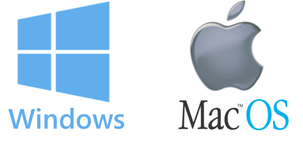 Microsoft Windows and Apple Macintosh logo